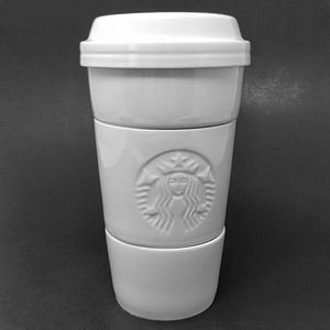 Starbucks 2012 White Stacking Snack Bowl Cups